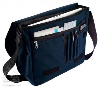 Наплечная сумка для документов, открытая