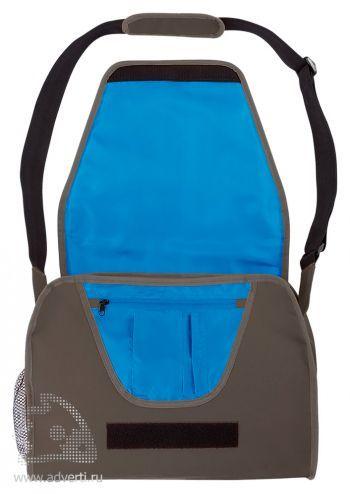 Конференц-сумка с цветным вкладышем, серая открытая