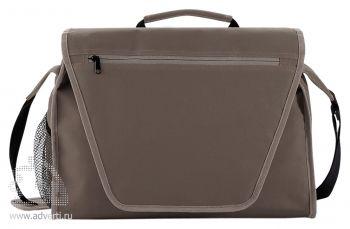 Конференц-сумка с цветным вкладышем, серая