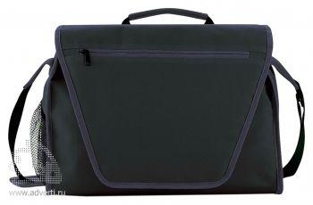 Конференц-сумка с цветным вкладышем, темно-синяя