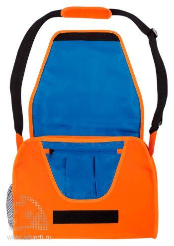 Конференц-сумка с цветным вкладышем, оранжевая открытая