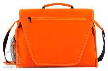 Конференц-сумка с цветным вкладышем, оранжевая