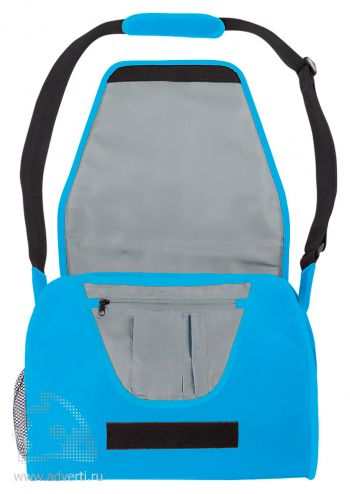 Конференц-сумка с цветным вкладышем, синяя открытая
