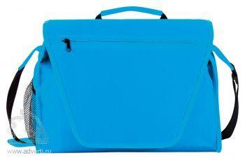 Конференц-сумка с цветным вкладышем, синяя