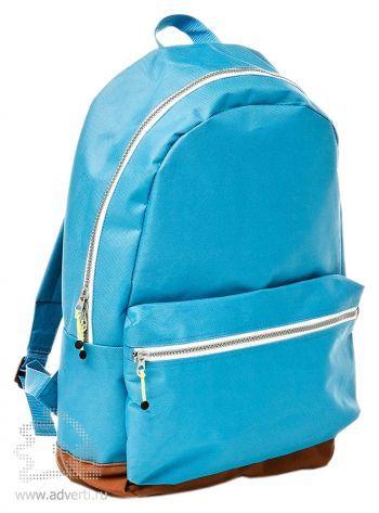 Рюкзак с застежками разных цветов, вид сбоку