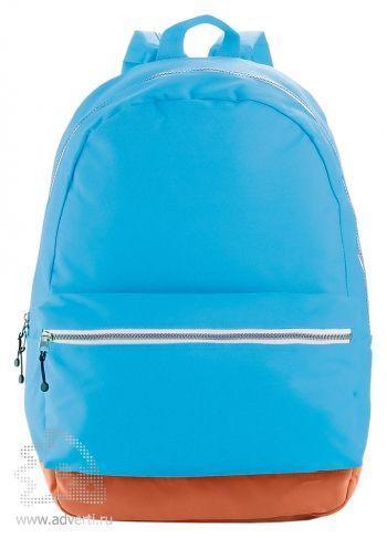 Рюкзак с застежками разных цветов, голубой