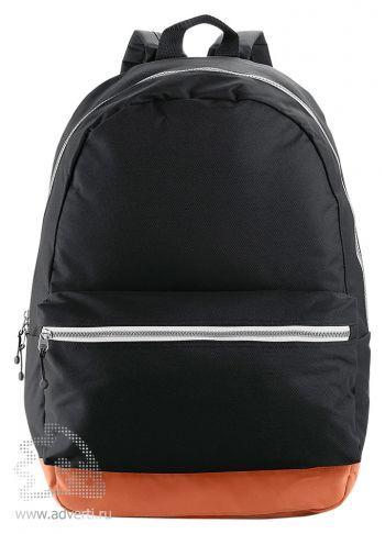 Рюкзак с застежками разных цветов, черный
