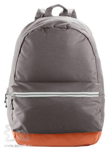 Рюкзак с застежками разных цветов, серый