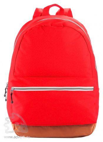 Рюкзак с застежками разных цветов, красный