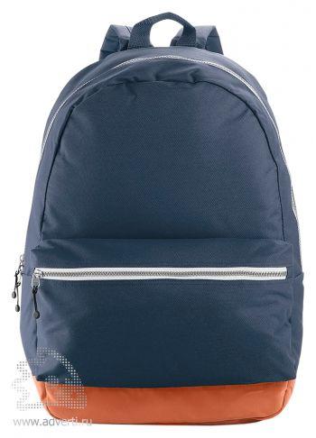 Рюкзак с застежками разных цветов, синий