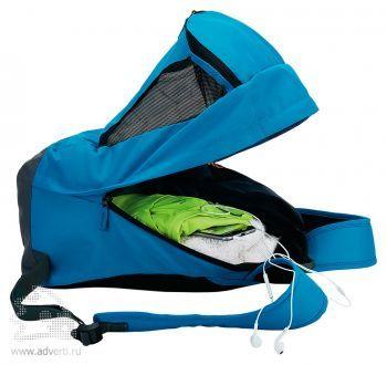 Спортивный рюкзак с отделением для обуви, открытый