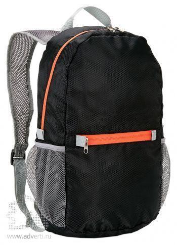 Ультралегкий складной рюкзак, черный