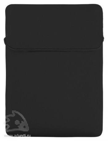 Двусторонний чехол для ноутбука, сторона 1 черная