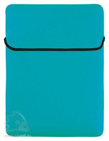 Двусторонний чехол для ноутбука, сторона 2 голубая