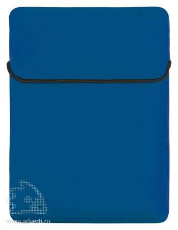 Двусторонний чехол для ноутбука, 1-я сторона синяя