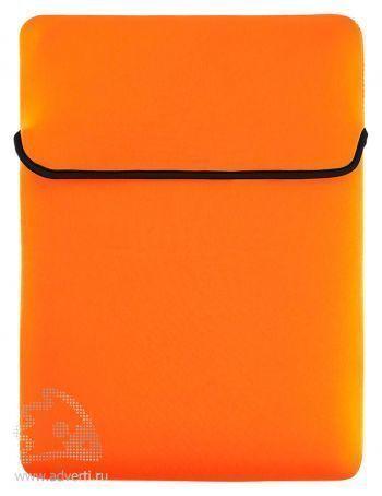 Двусторонний чехол для ноутбука, 2-я сторона оранжевая