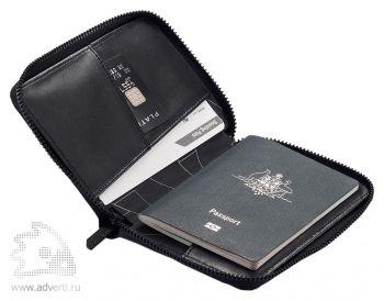 Кожаная обложка для паспорта «Komo», общий вид