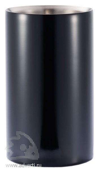 Кулер для бутылки шампанского, черный