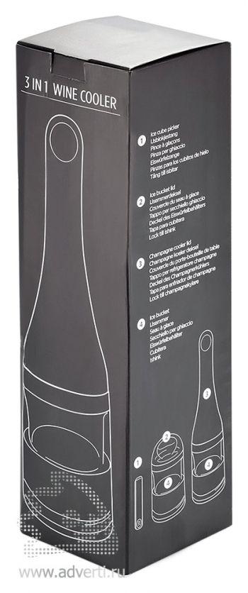 Кулер для бутылки вина 3 в 1, упаковка