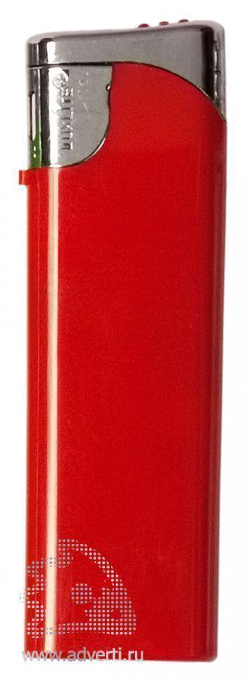 Зажигалка пьезо, красная