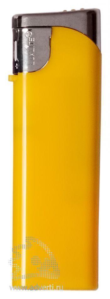 Зажигалка пьезо, желтая