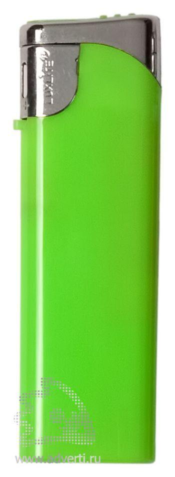 Зажигалка пьезо, зеленая