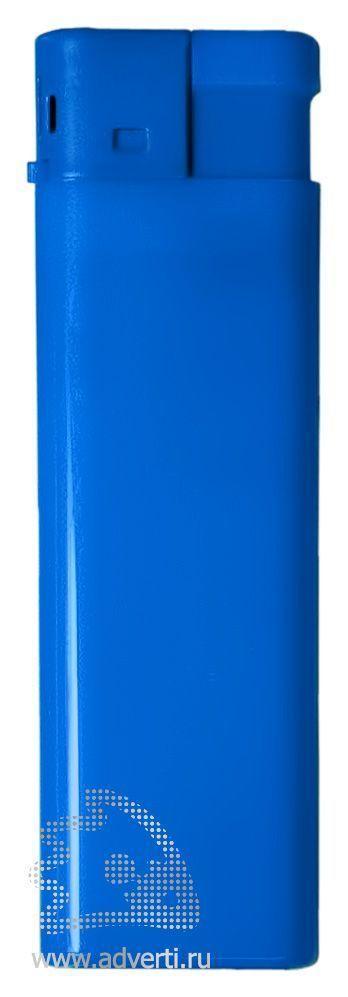 Зажигалка пьезо, однотонная, синяя