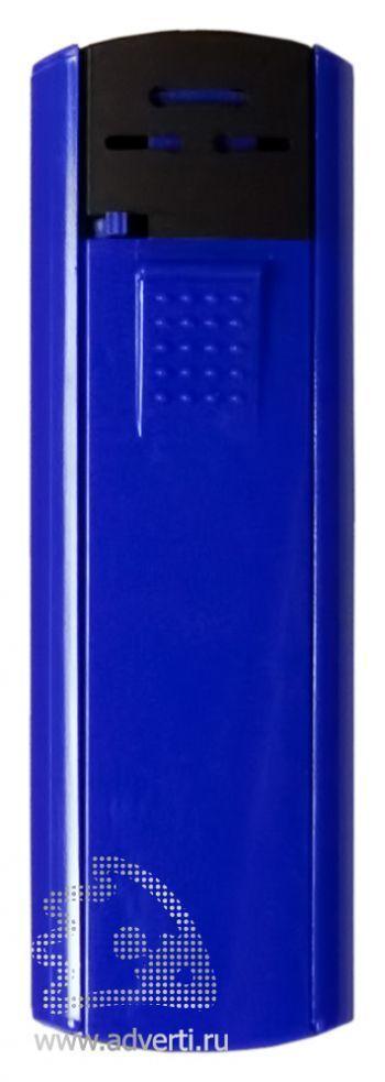 Зажигалка пьезо слайдер, синяя