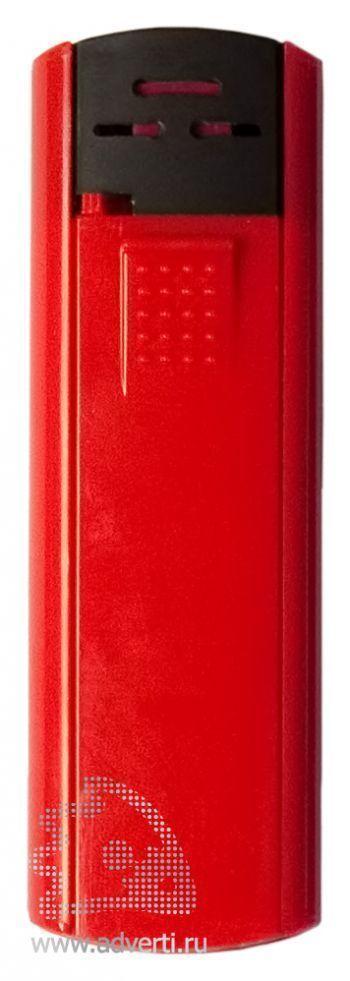 Зажигалка пьезо слайдер, красная