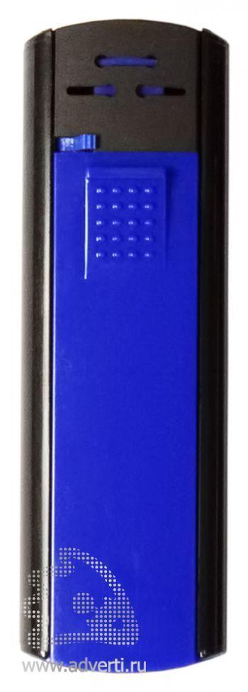 Зажигалка пьезо «Slider», сине-черная