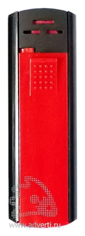 Зажигалка пьезо «Slider», красно-черная
