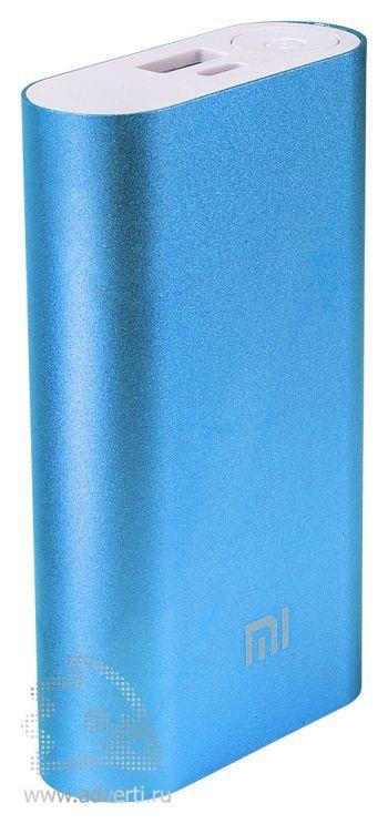 Универсальное зарядное устройство «Five Metal Colors» на 10400 mah, синее