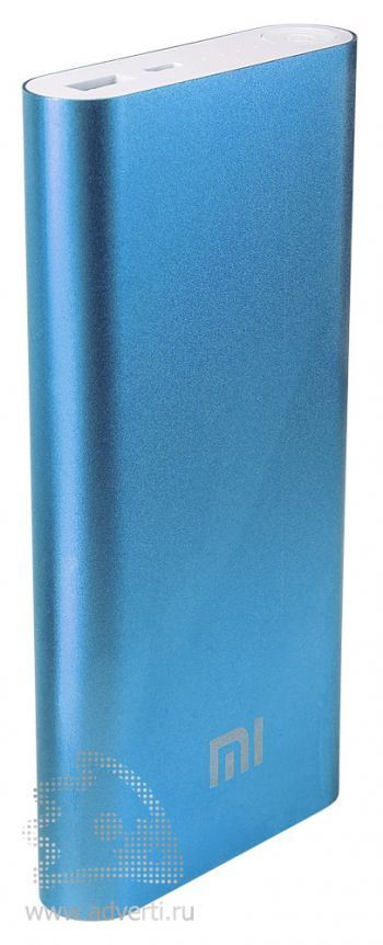 Универсальное зарядное устройство «Five Metal Colors» на 16000 mah, синее