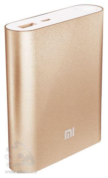 Универсальное зарядное устройство «Five Metal Colors» на 5200 mah, золотистое