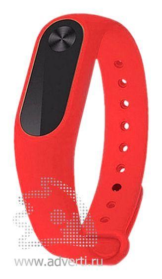 Фитнес-браслет «Move» с экраном и датчиком пульса, красный