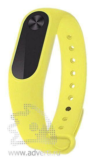 Фитнес-браслет «Move» с экраном и датчиком пульса, желтый