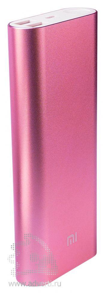 Универсальное зарядное устройство «Five Metal Colors» на 20800 mah, розовое