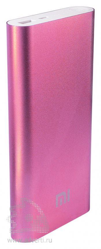 Универсальное зарядное устройство «Five Metal Colors» на 16000 mah, розовое