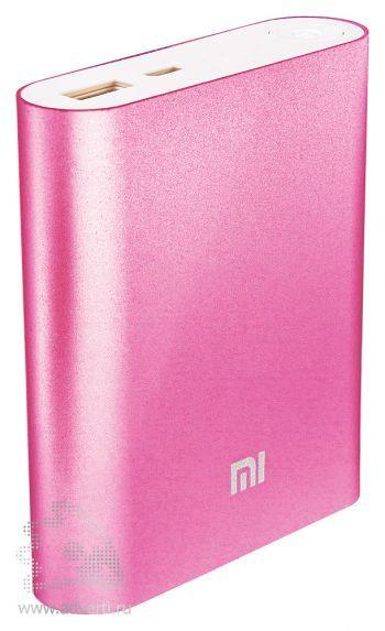 Универсальное зарядное устройство «Five Metal Colors» на 5200 mah, розовое