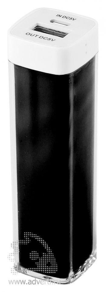 Зарядное устройство «Промо» на 2600 mah, черное