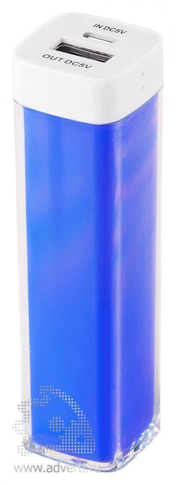 Зарядное устройство «Промо» на 2600 mah, синее