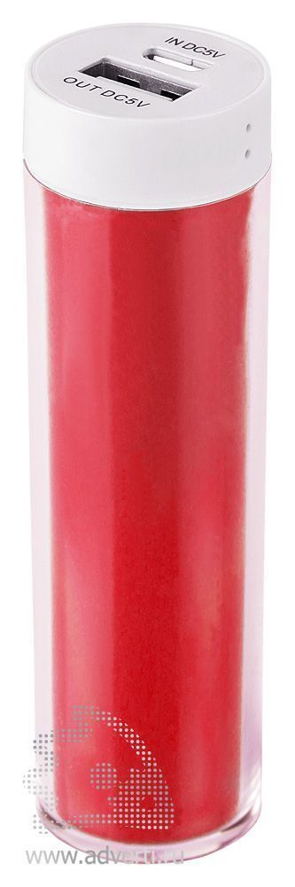 Зарядное устройство «Промо 2» на 2600 mah, красное