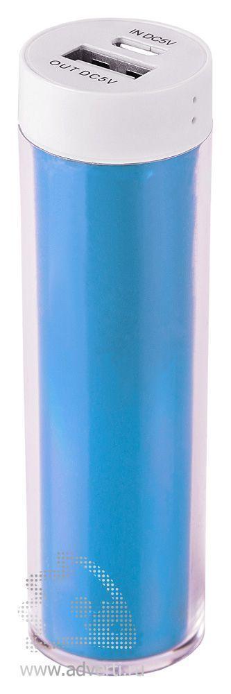 Зарядное устройство «Промо 2» на 2600 mah, голубое