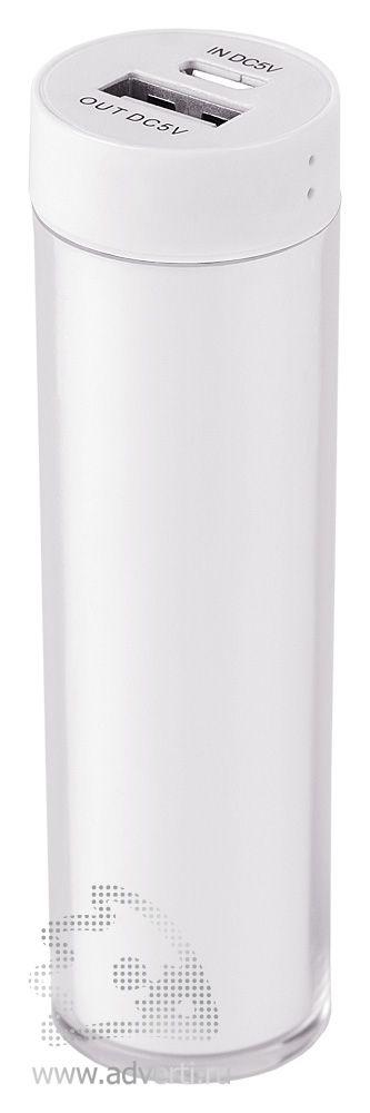 Зарядное устройство «Промо 2» на 2600 mah, белое