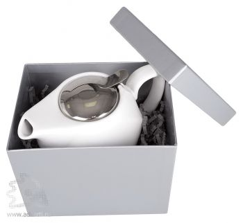 Заварочный чайник «Эстет», белый в упаковке