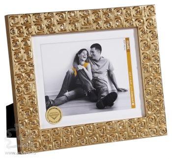 Рамка для фотографий, золотистого цвета