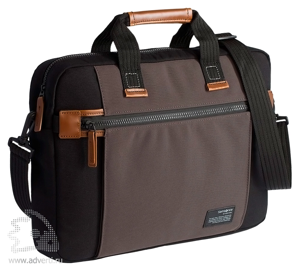 24c2b20f481c Сумка для ноутбука «Samsonite Sideways Laptop Bag» - с логотипом ...