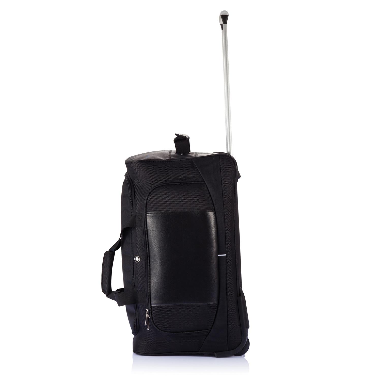 df4488e3d387 Дорожная сумка на колесах Swiss Peak, телескопическая ручка, вид сбоку