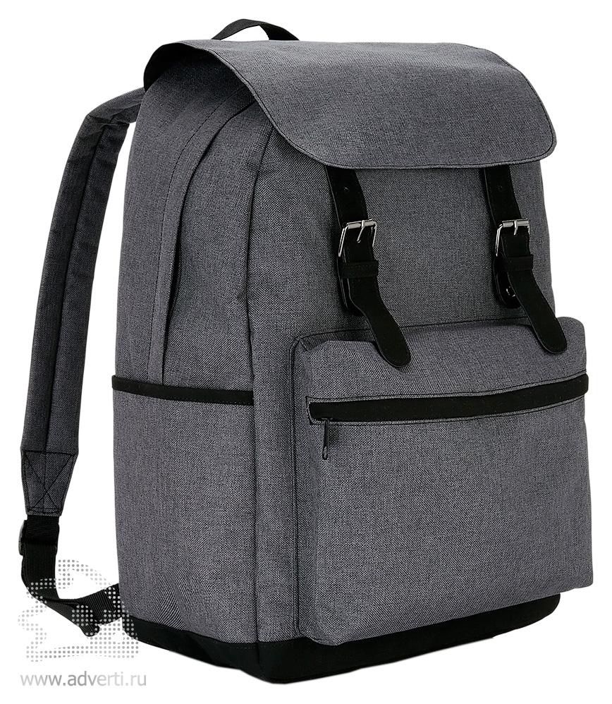 43dac8ff0247 Стильный рюкзак для ноутбука с застежками на кнопках - с логотипом ...